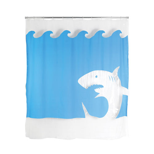 "EVA Shower Curtain ""Jaws"""