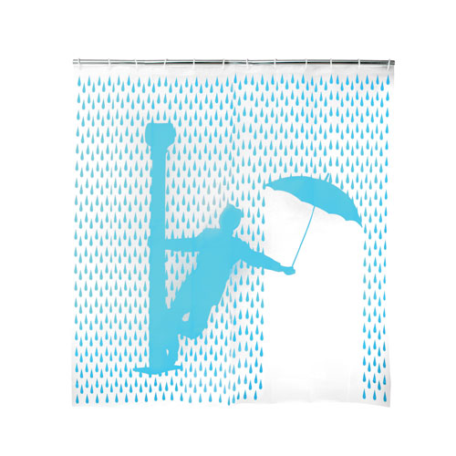 "EVA Shower Curtain ""Singing'in the rain"""