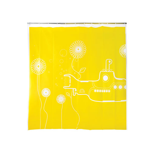 "EVA Shower Curtain ""Yellow submarine"""