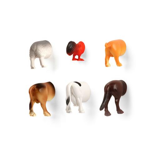 Farm Animal Butt Magnets