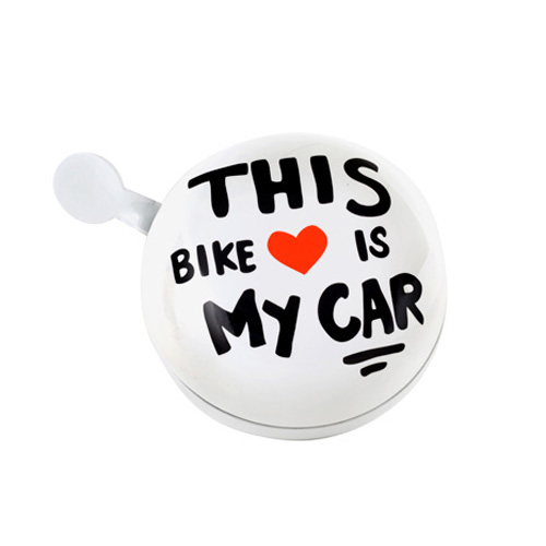 "Large Dring Dring Bike Bells ""This bike is my car"""