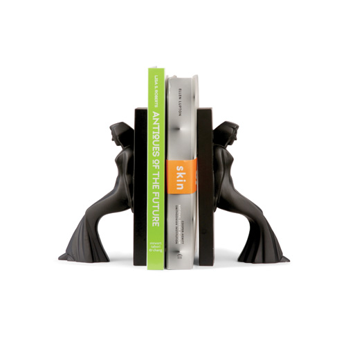 Leaning Ladies Bookends set of 2