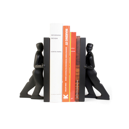 Pushing Men Bookends set of 2