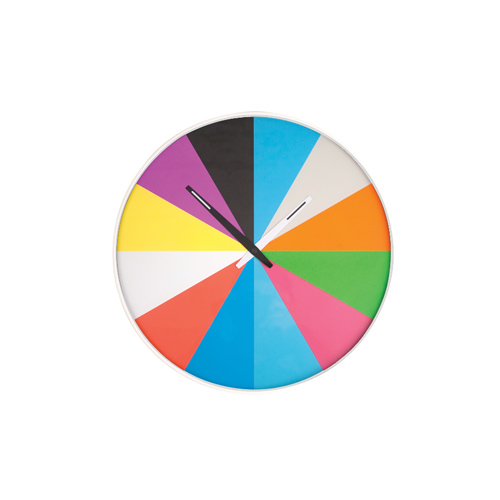 "Ultra Flat Wall Clock ""Multi color"""