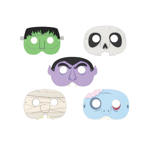Monster Party Masks set of 5