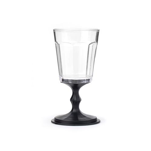 """Stackable Wine Glasses set of 2 """"Black"""""""