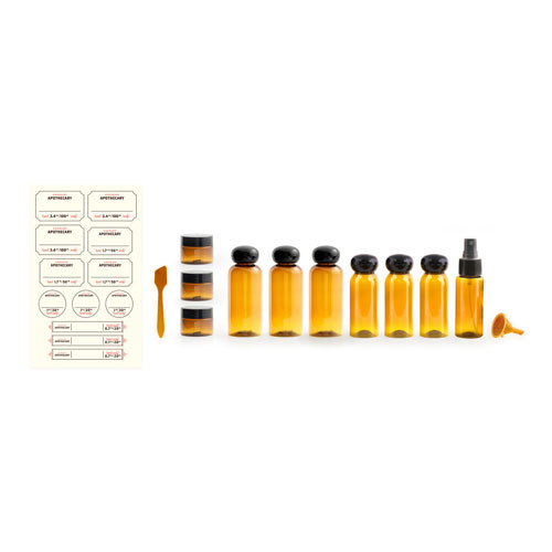 the extended stay apothecary travel set kikkerland jp