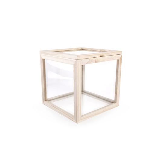 glass storage box square kikkerland jp